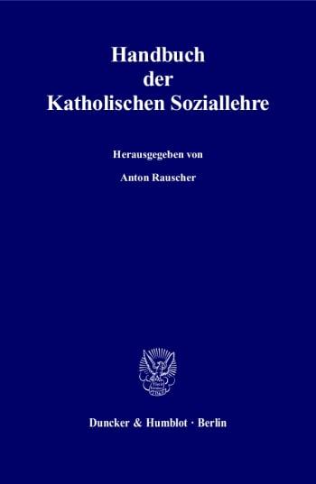 Cover: Handbuch der Katholischen Soziallehre