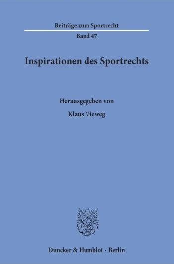 Cover: Inspirationen des Sportrechts