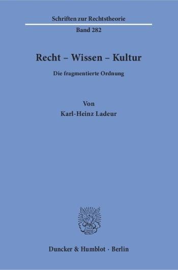 Cover: Recht – Wissen – Kultur