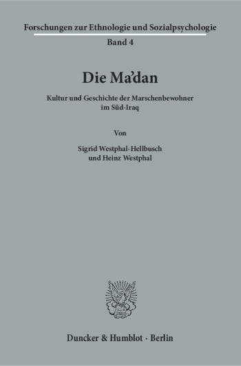 Cover: Forschungsergebnisse zur Ethnologie und Sozialpsychologie (FES)