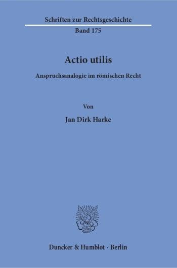 Cover: Actio utilis