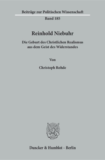 Cover: Reinhold Niebuhr