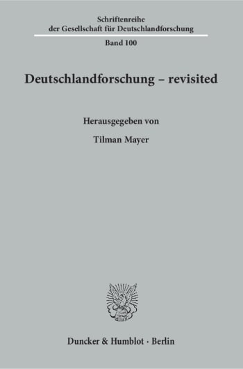 Cover: Deutschlandforschung – revisited
