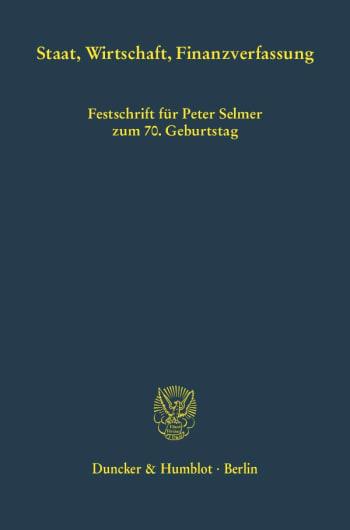 Cover: Staat, Wirtschaft, Finanzverfassung