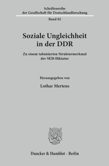 Cover: Soziale Ungleichheit in der DDR
