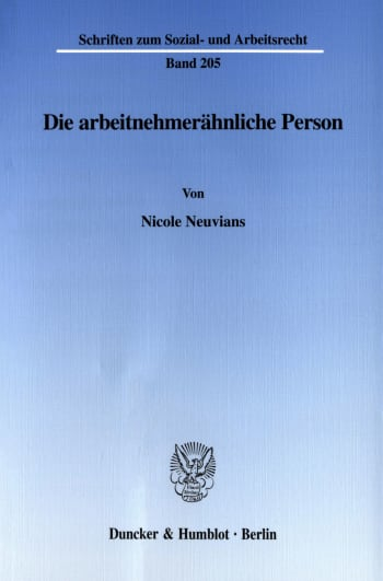 Cover: Die arbeitnehmerähnliche Person