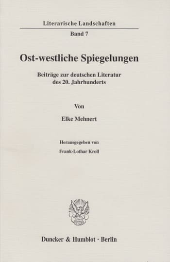 Cover: Ost-westliche Spiegelungen