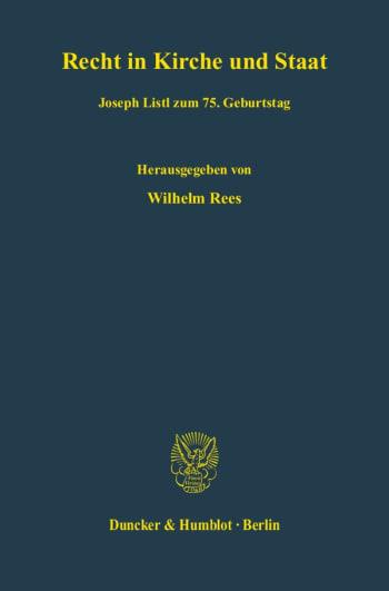 Cover: Recht in Kirche und Staat