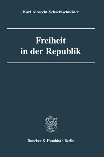 Cover: Freiheit in der Republik