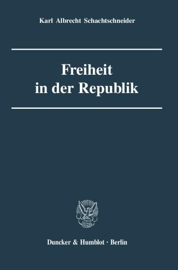 Cover: Freiheit in der Republik