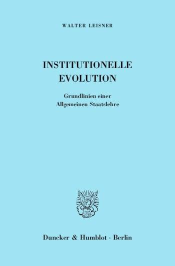 Cover: Institutionelle Evolution