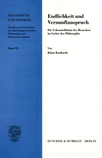 Cover: Endlichkeit und Vernunftanspruch