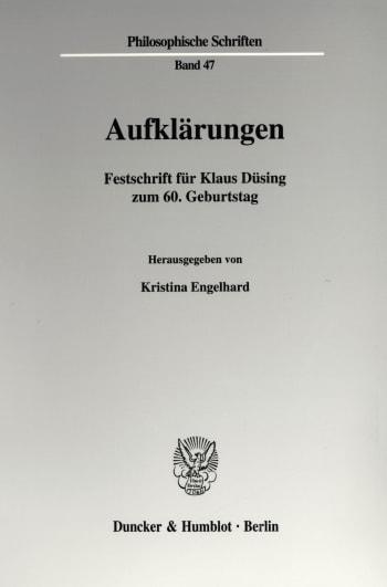 Cover: Aufklärungen
