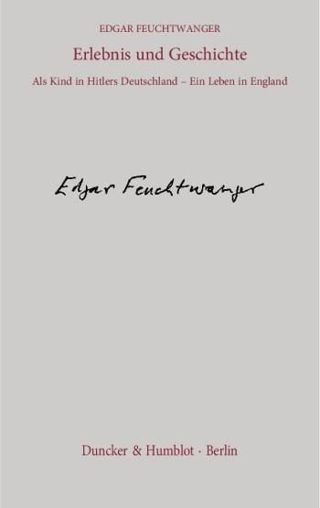 Cover: Erlebnis und Geschichte