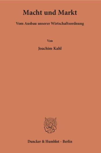 Cover: Macht und Markt
