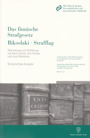 Cover: Das finnische Strafgesetz / Rikoslaki / Strafflag