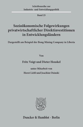 Cover: Schriftenreihe zur Industrie- und Entwicklungspolitik (IEP)