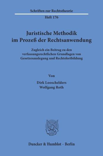 Cover: Juristische Methodik im Prozeß der Rechtsanwendung