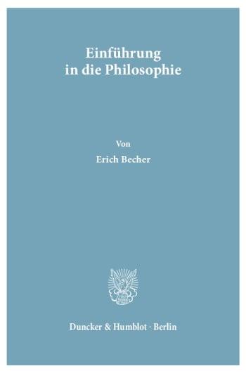 Cover: Einführung in die Philosophie