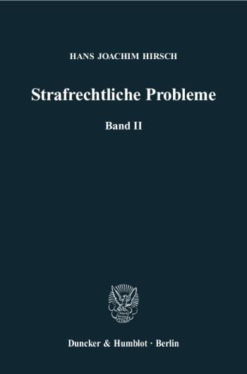 Cover: Strafrechtliche Probleme