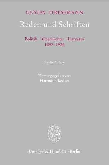 Cover: Reden und Schriften