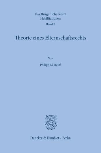 Cover: Das Bürgerliche Recht. Habilitationen (BRH)