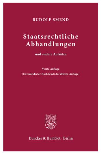 Cover: Staatsrechtliche Abhandlungen