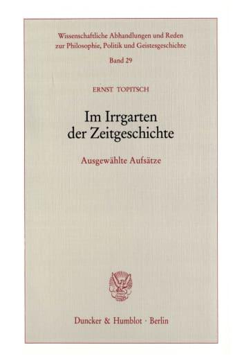 Cover: Im Irrgarten der Zeitgeschichte