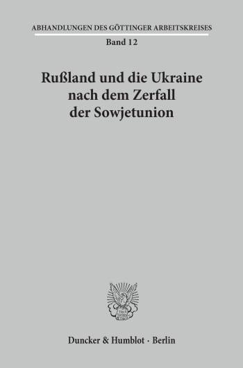 Cover: Abhandlungen des Göttinger Arbeitskreises (GAK)