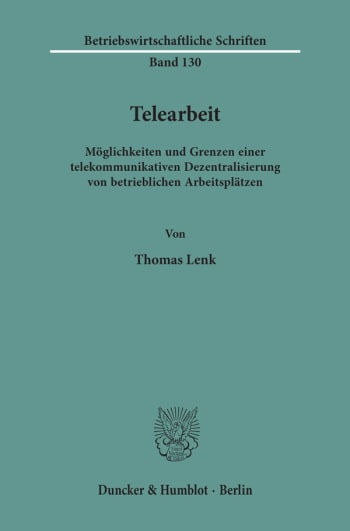 Cover: Telearbeit
