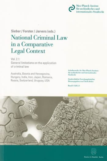 Cover: National Criminal Law in a Comparative Legal Context