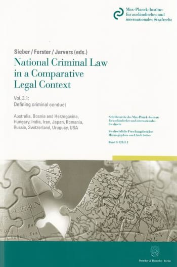 Cover: National Criminal Law in a Comparative Legal Context. Vol. 3.1