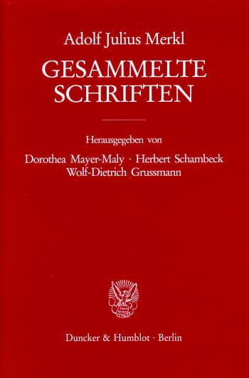 Cover: Gesammelte Schriften. 3 Bände (6 Teilbände)