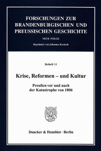 Cover: Krise, Reformen – und Kultur