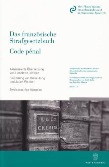 Cover: Das französische Strafgesetzbuch / Code pénal