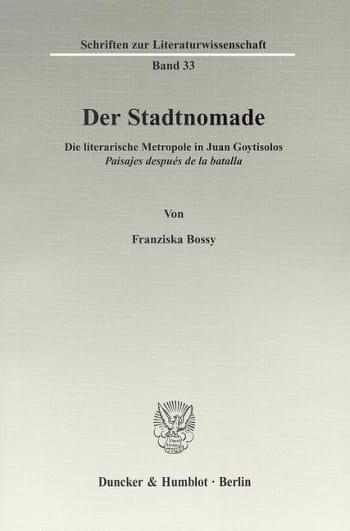 Cover: Der Stadtnomade