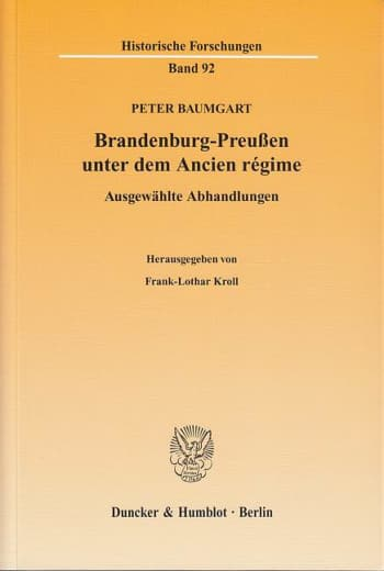 Cover: Brandenburg-Preußen unter dem Ancien régime