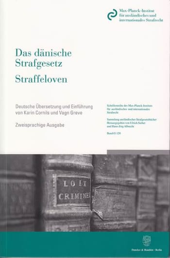 Cover: Das dänische Strafgesetz / Straffeloven