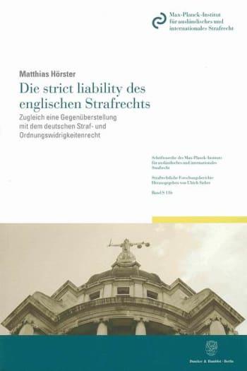 Cover: Die strict liability des englischen Strafrechts