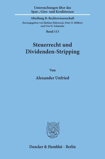Cover: Steuerrecht und Dividenden-Stripping