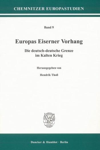 Cover: Europas Eiserner Vorhang