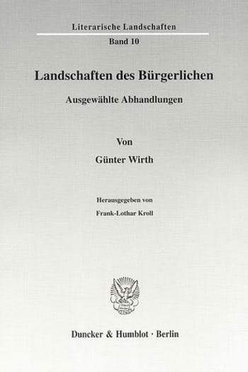 Cover: Landschaften des Bürgerlichen