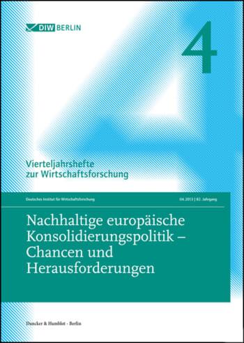 Cover: Nachhaltige europäische Konsolidierungspolitik – Chancen und Herausforderungen