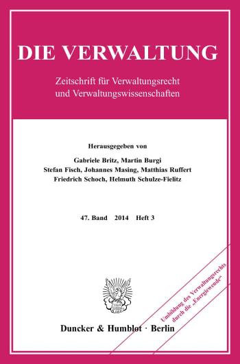 Cover: Umbildung des Verwaltungsrechts durch die »Energiewende«