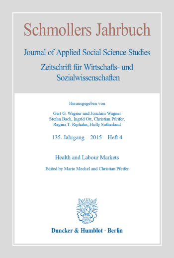 Cover: Health and Labour Markets