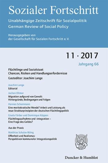 Cover: Flüchtlinge und Sozialstaat. Chancen, Risiken und Handlungserfordernisse