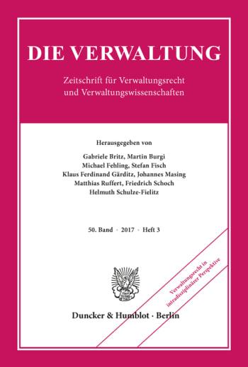 Cover: Verwaltungsrecht in intradisziplinärer Perspektive