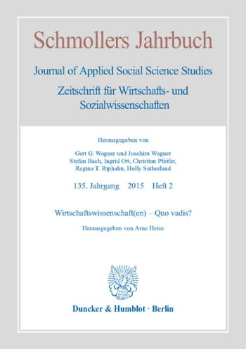 Cover: Wirtschaftswissenschaft(en) – Quo vadis?