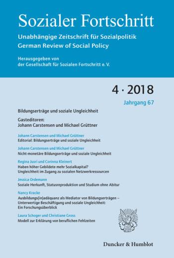 Cover: Bildungserträge und soziale Ungleichheit