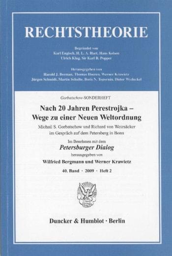 Cover: Nach 20 Jahren Perestrojka – Wege zu einer Neuen Weltordnung